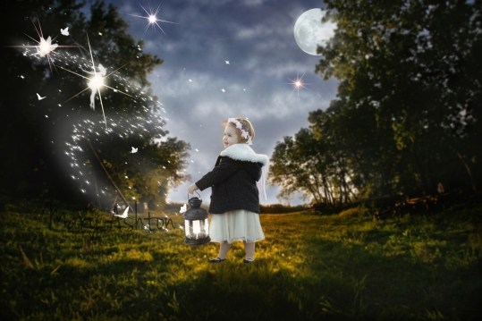 Composite Image with Fairies