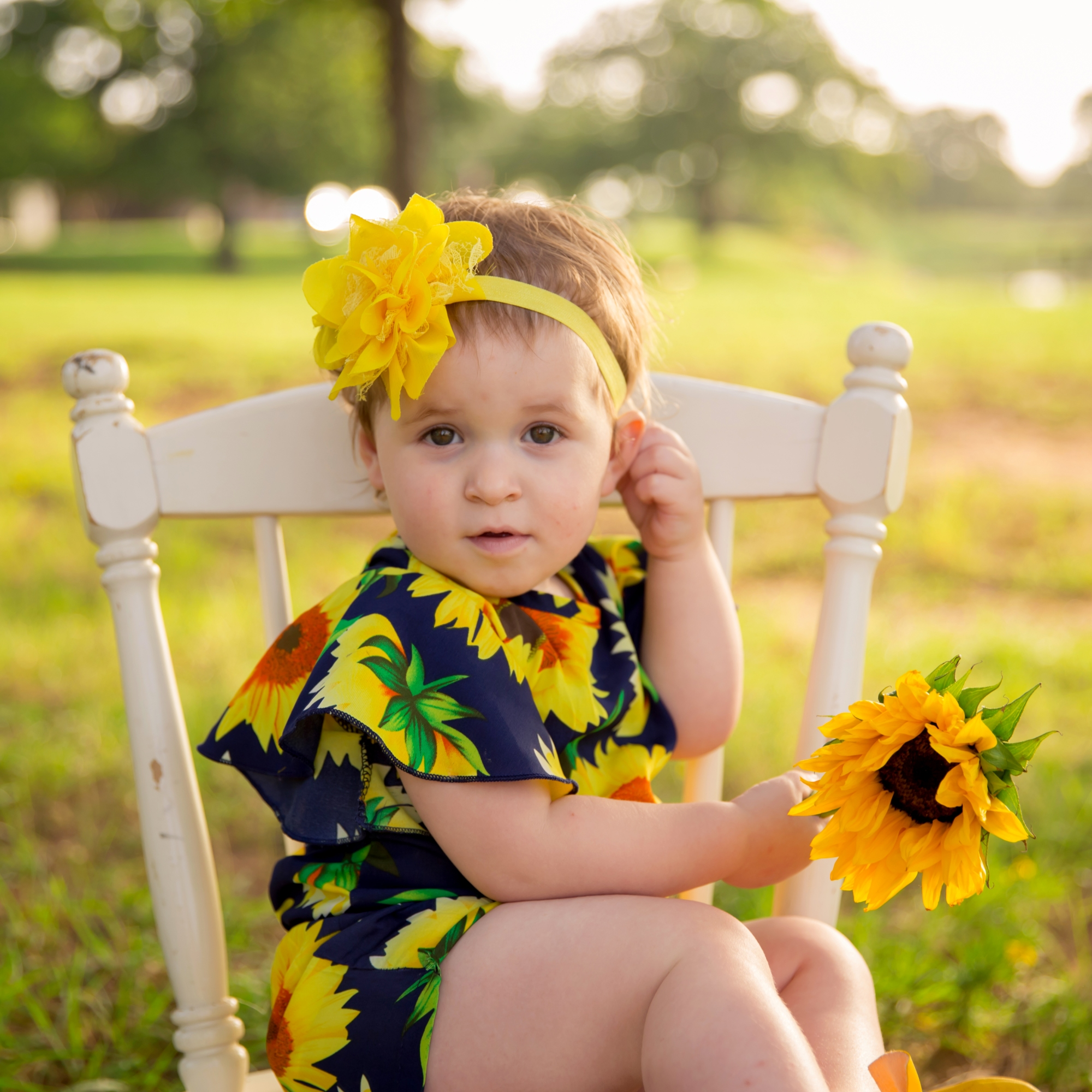 Sunflower Toddler Child Milestone Photography Arlington Texas